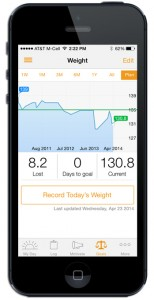 Lose it is one of the best exercise apps to help you set and meet your weight loss goals. Here's a phone displaying the lose it app