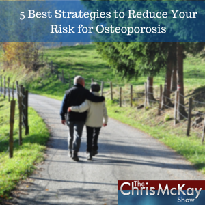 Two people walking down a dirt road. Cover for 5 Best Strategies to Reduce Your Risk for Osteoporosis